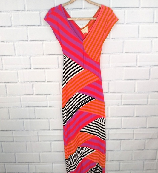 7d773db942 Nicole Miller Dresses | Artelier Knit Striped Maxi Dress | Poshmark